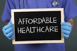 Photo that reads Affordable Healthcare